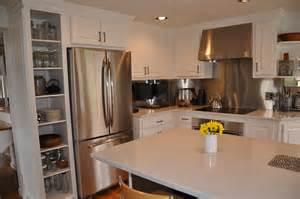 Quartz Countertops with White Cabinets