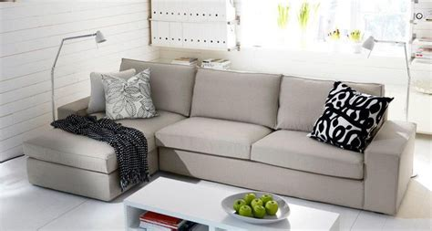 kivik sofa  chaise long living room ikea living room ikea couch ikea
