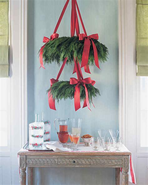 cedar wreath chandelier martha stewart