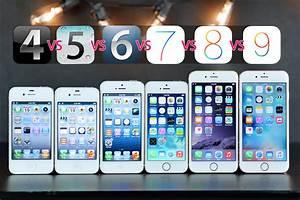 iPhones Compared on Original iOS Versions