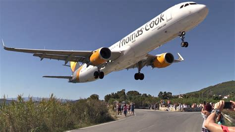 Thomas Cook A321-211 Powerful GO AROUND at Skiathos ...