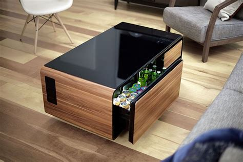 Two adults are recommended to assemble. Amazon.com: Sobro SOCTB300WDBK Coffee Table with Refrigerator Drawer Bluetooth Speakers, LED ...