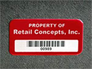 consecutive number labels With custom inventory tags