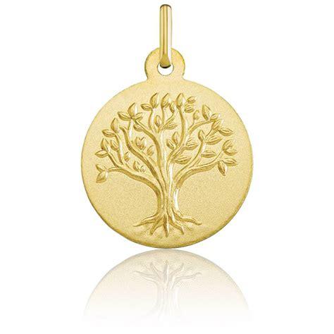 m 233 daille arbre de vie relief or jaune 18k de la marque