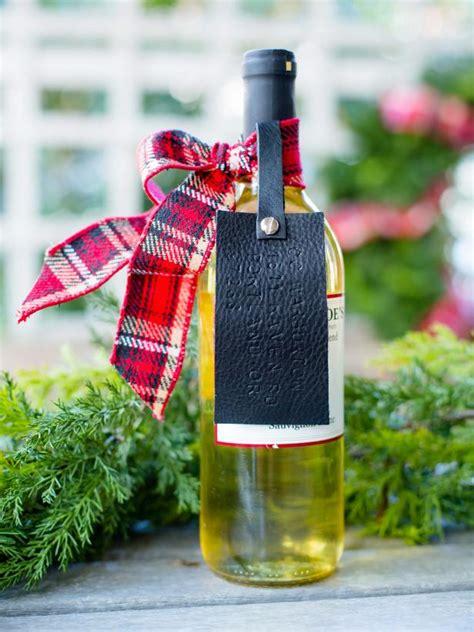 creative ways  wrap  wine bottle gift hgtv
