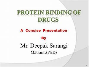 Protein Drug Binding Ppt