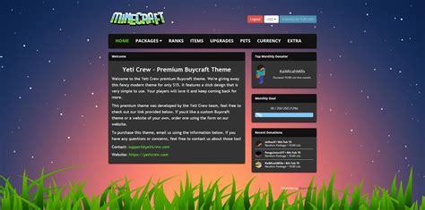 buycraft templates modern buycraft theme yeti crew 15 minecraft market