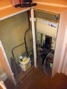Build Corner Cabinet To Hide Electric And Gas Meters