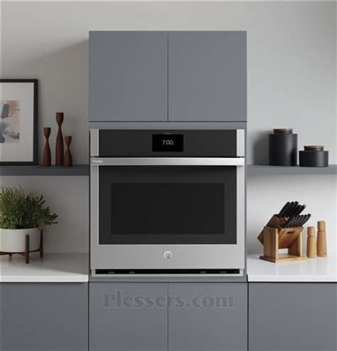 general electric ptssnss ge profile series  built  convection single wall oven