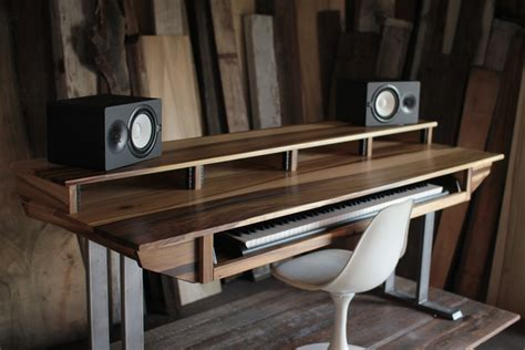 music studio desk workstation large modern wood recording studio desk for composer