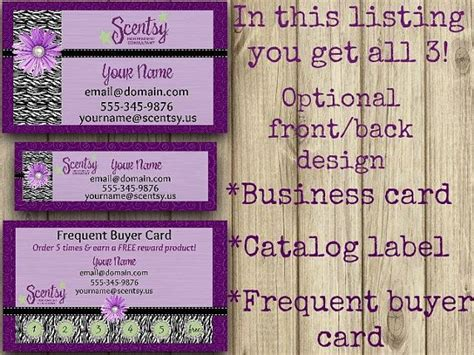 scentsy business business card direct sales marketing