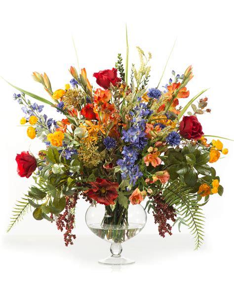 glorious garden silk flower centerpiece at silkflowers