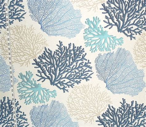 Coral Upholstery Fabric by Ali S Gossip Bench Redo Blue Coral Fabric Aqua From