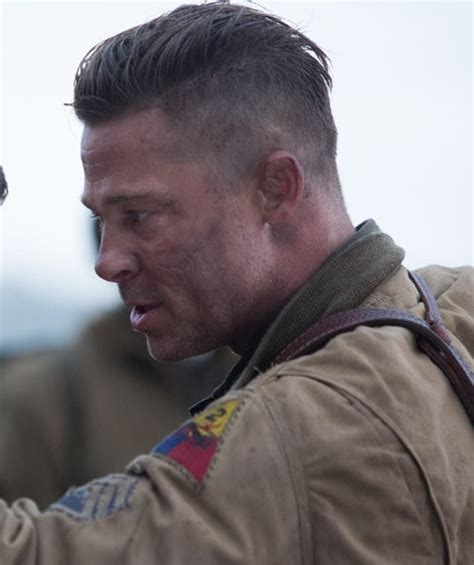 How to Get the Brad Pitt?s Fury Hairstyle ? Cool Men's Hair