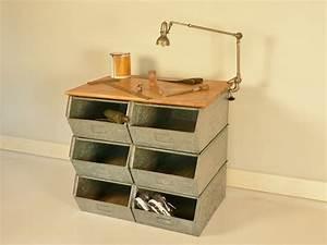 Meuble Rangement Casier : meuble casier stockage decoration industrielle ~ Teatrodelosmanantiales.com Idées de Décoration