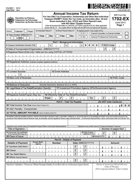 busapcom bir form 1702 ex