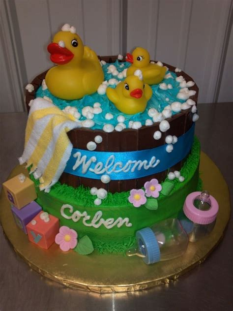 Rubber Ducky Baby Shower Cake Cakecentralcom
