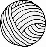 Yarn Clip Ball Clipart Hilo Balls Benang Equipo Iconos Dibujo Template Wool Drawing Coloring Sketch Arts Transparent Cadena Automatically Start sketch template