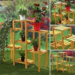 Etagere De Jardin : pot de fleur rotin pot de fleur en bois jardiniere en bois ~ Premium-room.com Idées de Décoration