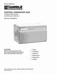 Kenmore Central Humidifier 303 9380612 User Manual