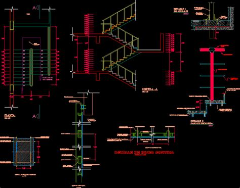 details stair dwg detail for autocad designs cad