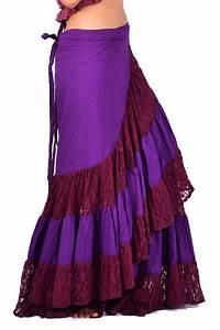 Long Gypsy Boho Skirt Hippy Lace Wraparound Skirt | Altshop UK
