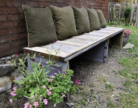 50 coole Garten Ideen für Gartenbank selber bauen fresHouse