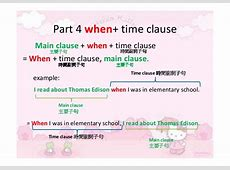 Time conjunctions when, before, after ppt