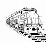 Coloring Train Locomotive Pages Diesel Bnsf Steam Print Trains Template Kindergarten Real Sketch sketch template