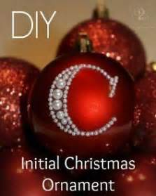 diy initial christmas ornament initials christmas With cheap letter ornaments