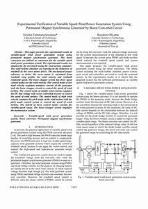 (PDF) Experimental Verification of Variable Speed Wind ...