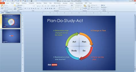 plan  study act powerpoint template