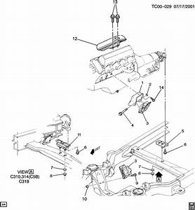 1994 Chevrolet C3500 Engine  U0026 Transmission Mounting