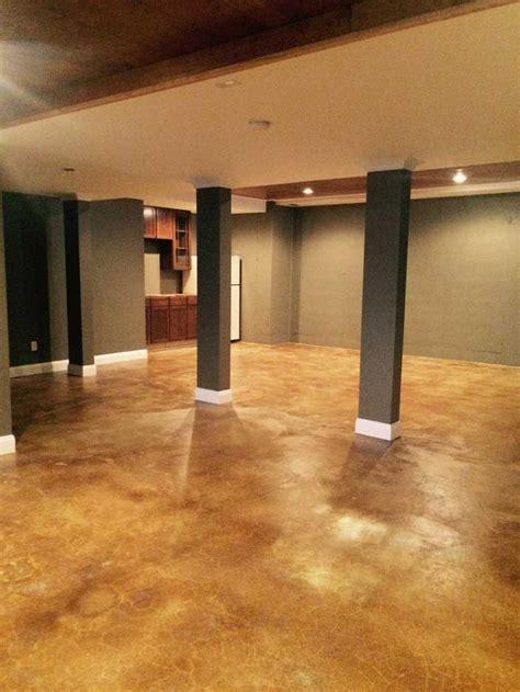 diy concrete stain acid stain basement remodel directcolors 3392