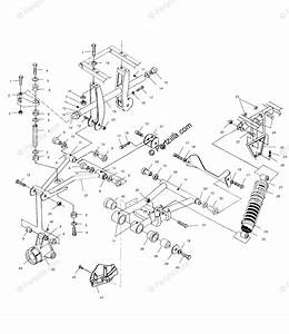 Polaris Atv 1999 Oem Parts Diagram For Rear Suspension
