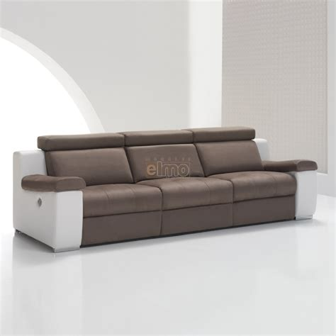 canap chauffant canapé cuir bicolore relax massant chauffant absolut