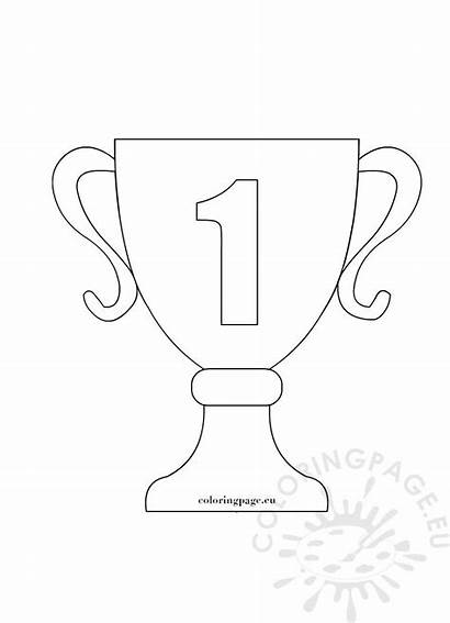 Coloring Trophy Pages Sports Clip Winning Eu