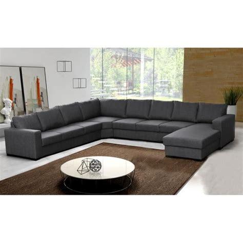 canape angle moderne canapé d 39 angle 9 places oara gris moderne achat vente