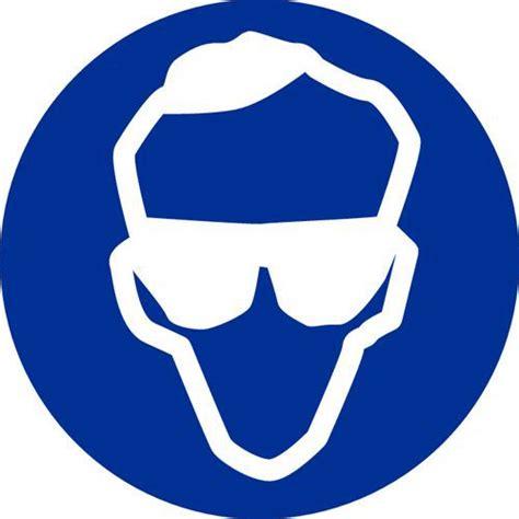 mobilier de bureau informatique panneau d 39 obligation port de lunettes de sécurité