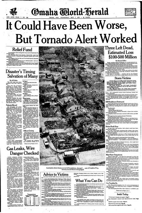 Tornado hits Omaha - World-Herald special section - May 7