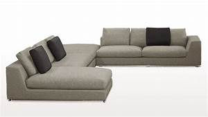 low sectional sofa thesofa With low profile sectional sofa with chaise