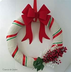 DIY Christmas Burlap Wreath Tutorial - Decor by the Seashore