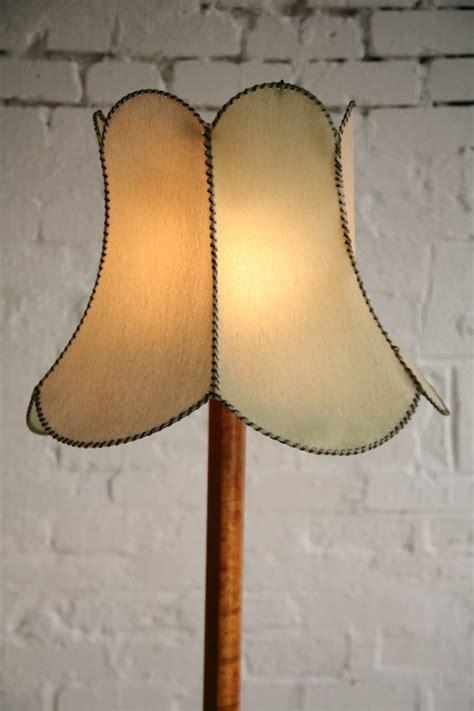 1930s Floor Lamp   Cream and Chrome