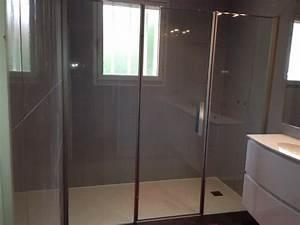 modele de salle de bain avec douche italienne maison With porte de douche coulissante avec meuble salle de bain suspendu pas cher