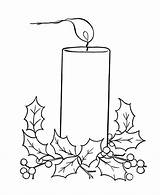 Candle Christmas Candles Coloring Pages Holly Scenes Printable Printables Window Bible Procoloring Scene Drawing Sheets Navidad Easy Flame Para Embroidery sketch template