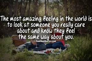 The most amazin... Amazing Feeling Love Quotes