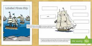 Label A Pirate Ship Worksheet    Activity Sheet