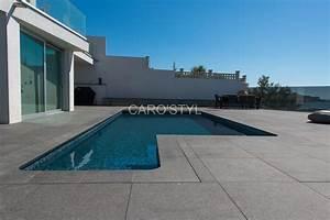 margelle de piscine en pierre de lave noire 3 cm epaisseur With margelle noire pour piscine
