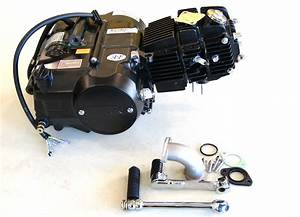 Black Lifan 125 Manual 4 Up Engine With Option For Carb