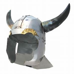 Viking Helmet with Real Horns - Medieval Vikings